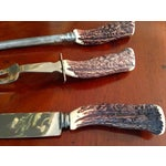 Image of 3 Piece English Stag-Horn Carving Set