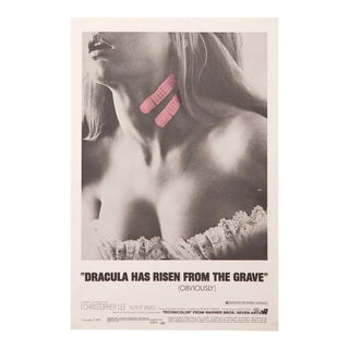 "Vintage 1969 poster for the film ""Dracula Has Risen From the Grave"""