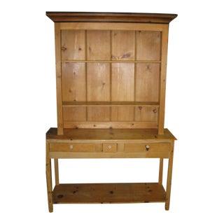 English Pine Bookcase & Cupboard