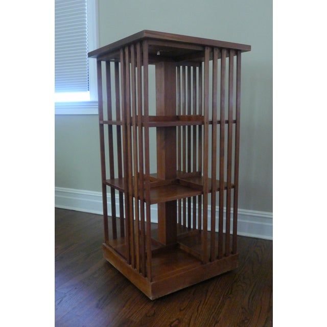 Stickley Mission Cherry Revolving Bookcase - Image 2 of 5