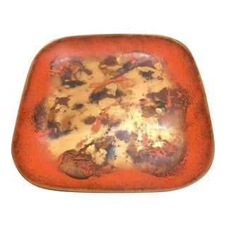 Vintage Enameled Copper Dish by Bovano