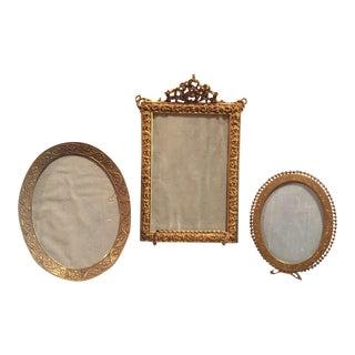 Antique Bronze Picture Frames - Set of 3