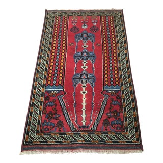 "Antique Persian Baluchi Rug - 2'9"" X 4'11"""