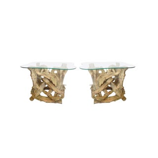 Antique Driftwood Tables - A Pair
