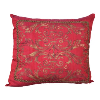 Isabelle H. Fortuny Style Hand-Painted Cherry Pillow Cover