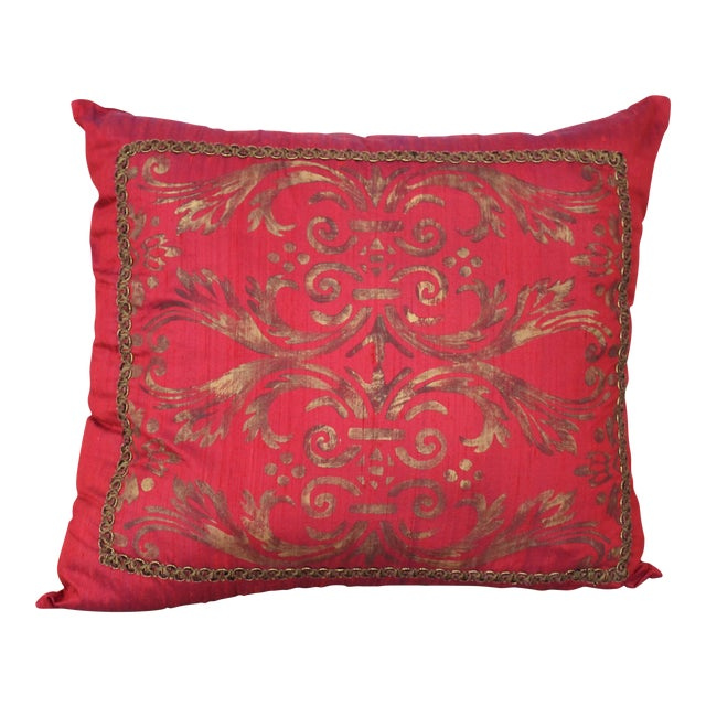 Isabelle H. Fortuny Style Hand-Painted Cherry Pillow Cover - Image 1 of 8