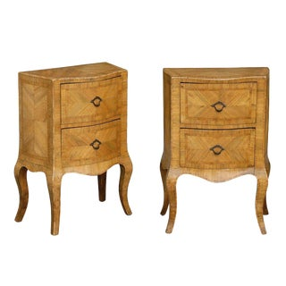 Pair of Italian Commodes with Two drawers