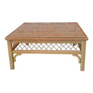 Vintage Lane Rattan Coffee Table