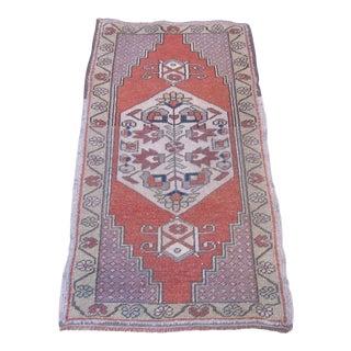 Vintage Turkish Area Rug - 1′10″ × 3′7″