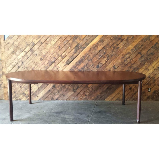 Mid-Century Solid Rose Wood Dining Table - Image 2 of 6