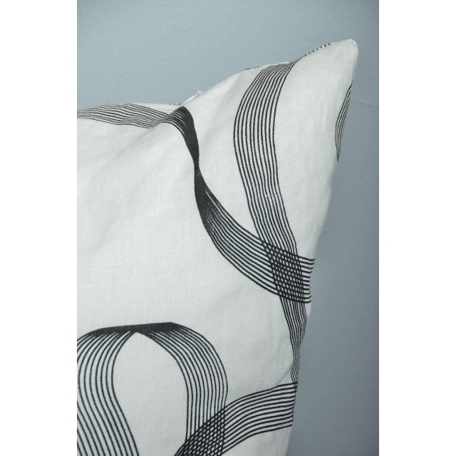 Modern Gray Ribbon Patterned Pillow - Image 2 of 3