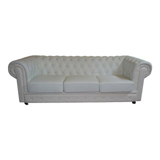 Chesterfield Tufted Leatherette Sofa
