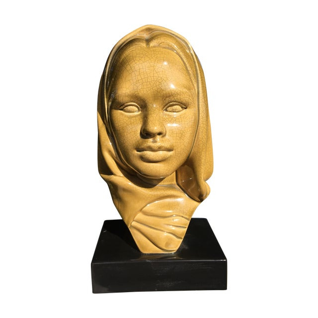 Mid-Century Modern Glazed Ceramic Virgin Mary - Image 1 of 6