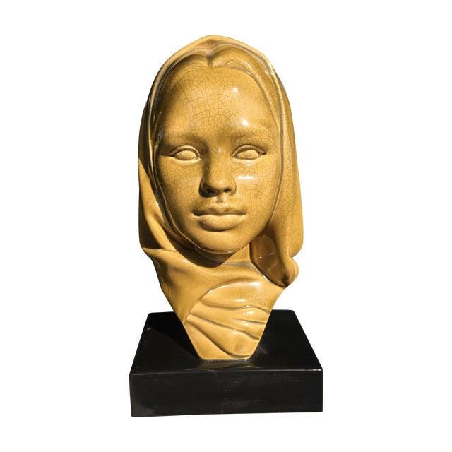 Image of Mid-Century Modern Glazed Ceramic Virgin Mary