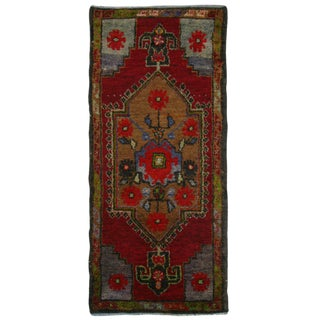 Vintage Turkish Yastik Carpet - 1'6 x 3'6