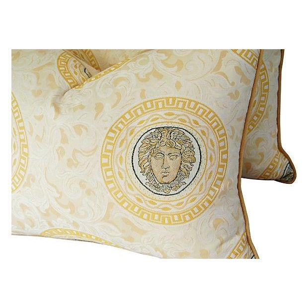 Custom Italian Versace-Style Medusa Pillows - Pair - Image 5 of 9