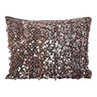 Moroccan Berber Pillow With Metal Sequins
