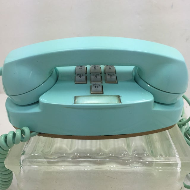 Image of Vintage Turquoise WE 10-Button Princess Phone