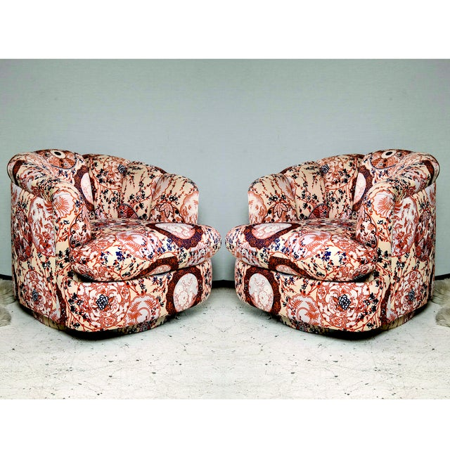 Milo Baughman Swivel Chairs - Pair - Image 2 of 7