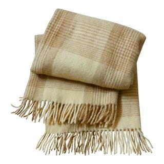 Plaid Wool Throw Blanket