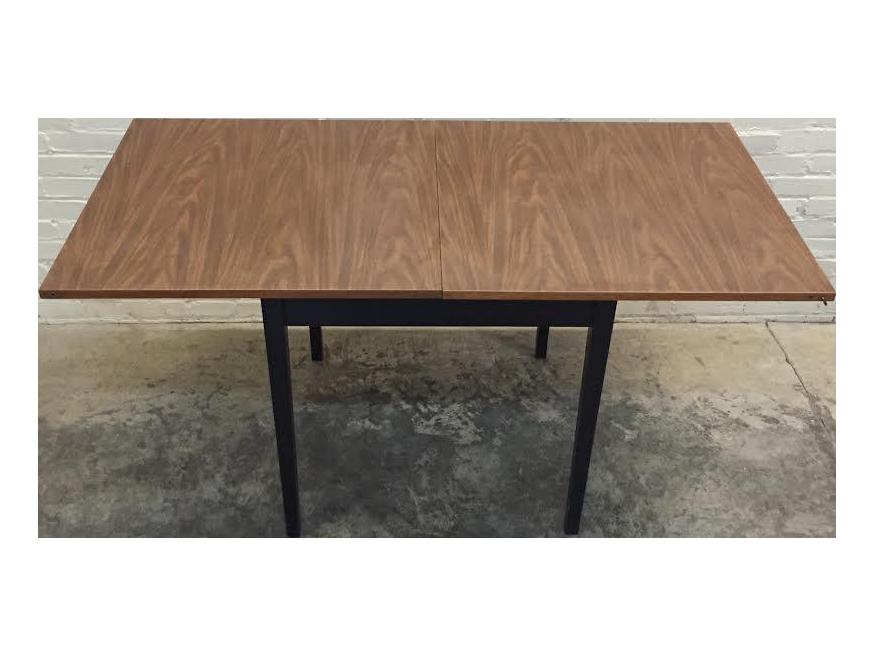 mid century modern folding top dining card table chairish