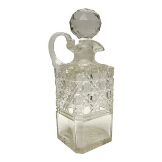 1890 Antique English Hobnail Cut Decanter