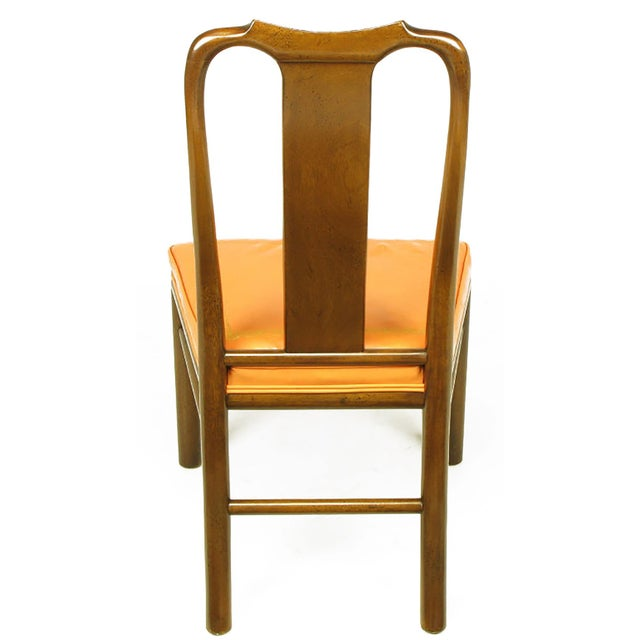 Six Walnut and Tooled Leather Splat-Back Dining Chairs - Image 6 of 10