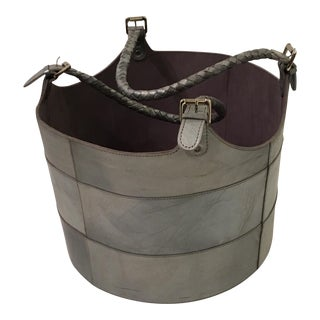 Gray Leather Bucket