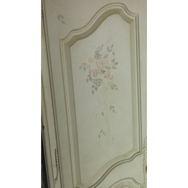 Hand Painted French Country Armoire By Ethan Allen Chairish