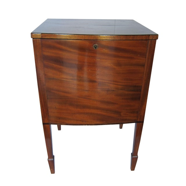 Antique Locking Liquor Cabinet Table Chairish