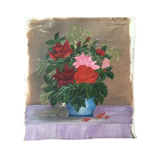 1940s Rose Bouquet Painting