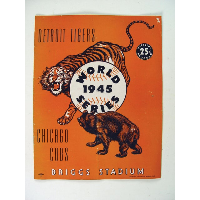 Vintage World Series Tigers & Cubs Program Book - Image 5 of 5