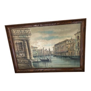 Venice Canal Oil Painting by Alvaro