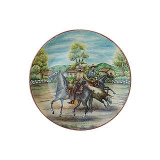 Equestrian Majolica Platter