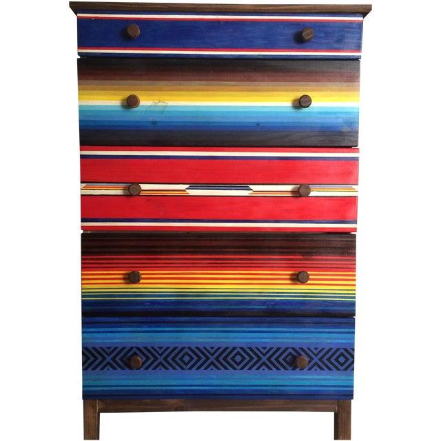 Mexican Blanket Dresser - Image 1 of 4