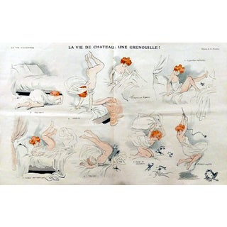 "1910 La Vie Parisienne ""Frog in the Castle"" Print"