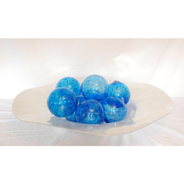 Image of Iridescent Glass Bowl & Glass Balls