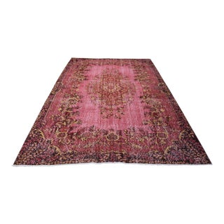 Pink Turkish Oushak Area Rug - 6′4″ × 9′11″
