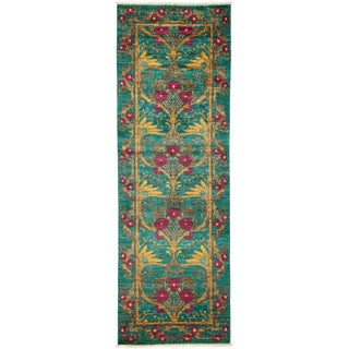"""Arts & Crafts Hand Knotted Runner - 2'9"""" X 7'10"""""""