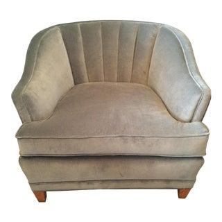 Dusky Turquoise Velvet Club Chair
