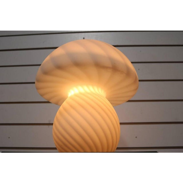 Murano Glass Mushroom Lamp - Image 6 of 7