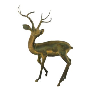 "44"" Decorative Garden Brass Deer"