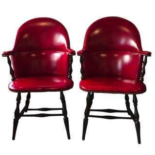 1940's Windsor Style Accents Chairs - A Pair
