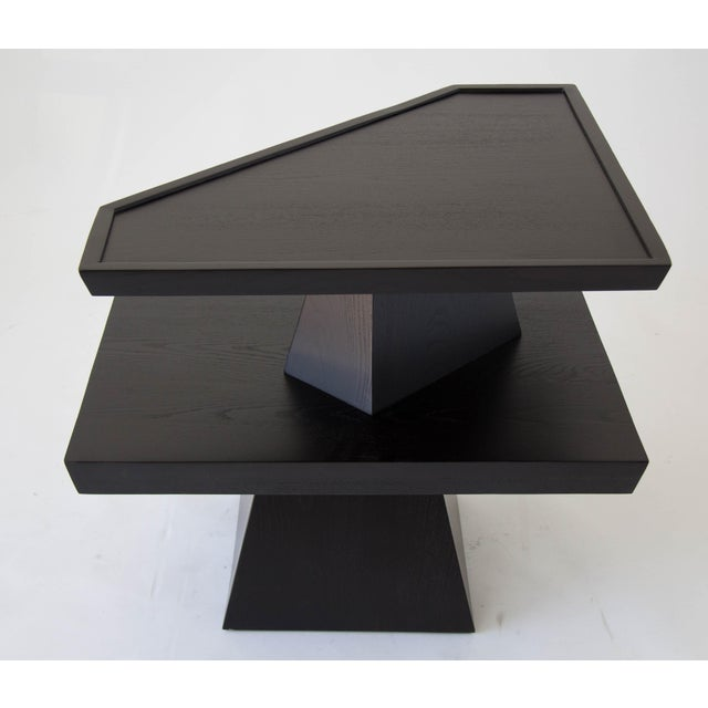Brutalist Two-Tiered End Table - Image 10 of 11