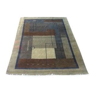 """Nepal Handwoven Wool Rug - 6'7"""" x 10"""""""