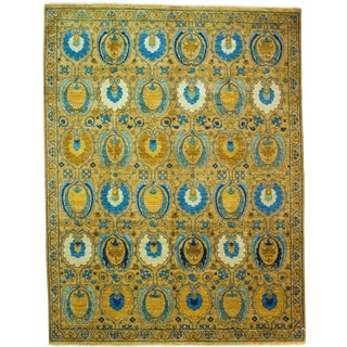 """Contemporary Suzani Hand Knotted Rug- 8' 2"""" x 10' 8"""""""