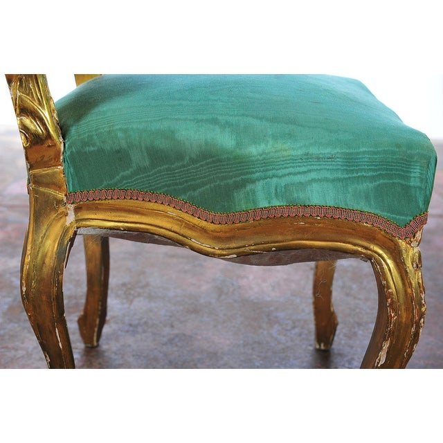 Louis XVI Style Giltwood Chairs - Set of 4 - Image 6 of 11