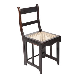 19th C. Anglo-Indian Ebony Folding Chair