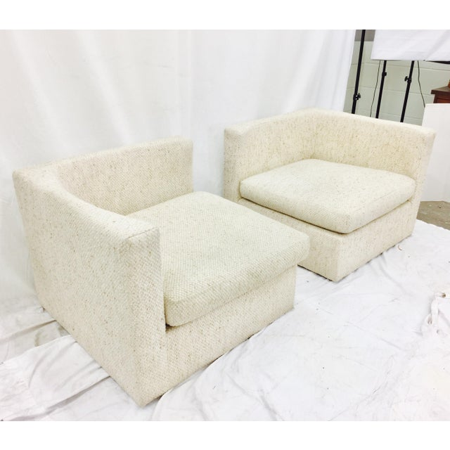 Vintage Mid-Century Modern Milo Baughman Arm Chairs - A Pair - Image 4 of 10