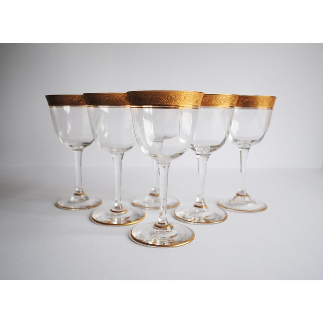 Image of Gold Encrusted Cocktail Glasses - Set of 6